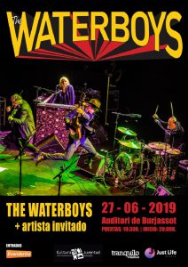 Waterboys en concierto en auditorium Burjassot (Valencia)