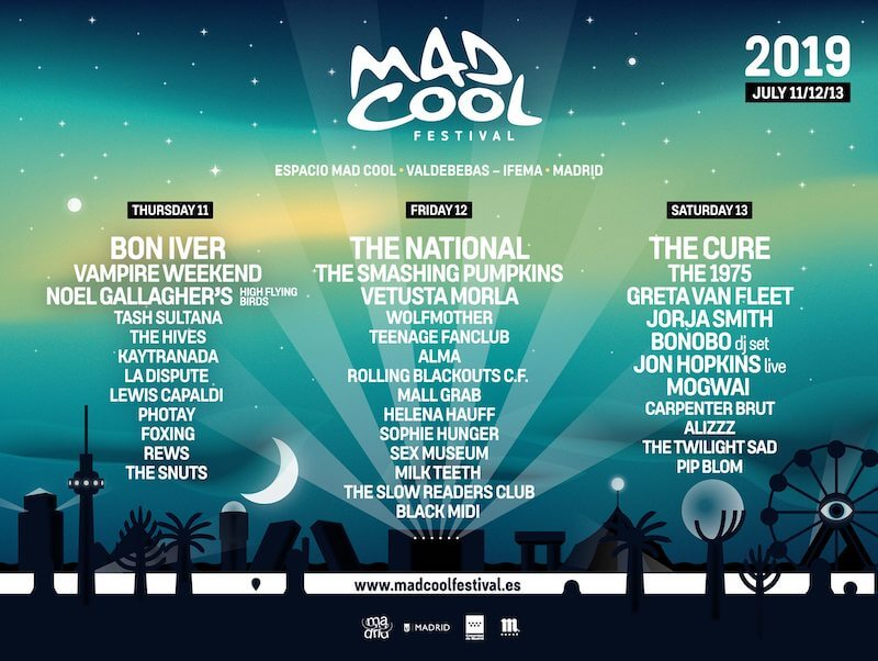 Mad Cool Festival , el festival transgresor de Madrid se pone las pilas.  2019